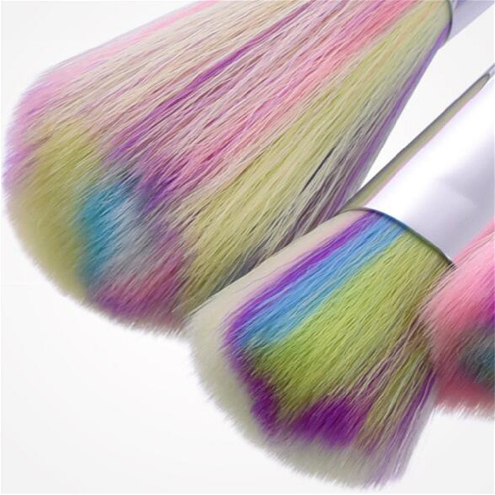 10 Pcs 1Set 2 color options Unicorn Facial Foundation Contour Cosmetic Eyelash Eye Shadow Eyeliner Lip Brush Makeup Brushes Set in Eye Shadow Applicator from Beauty Health