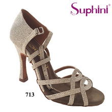Free Shipping Handcraft Dance Shoes Latin Gold Suphini Latin Salsa Dance Shoes