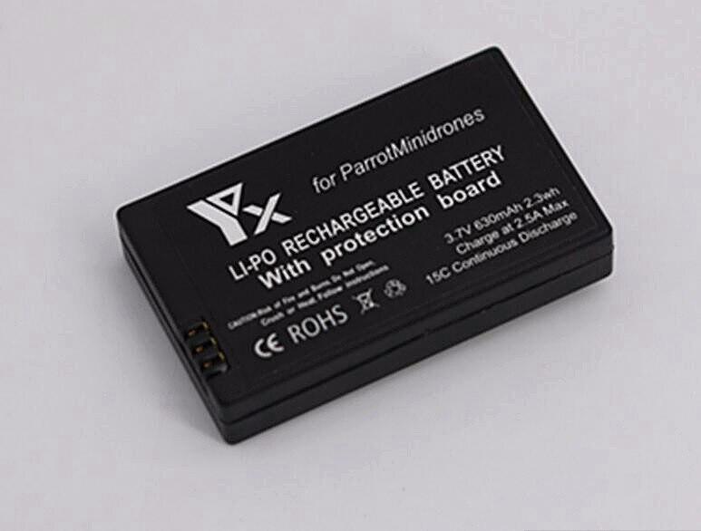2 stücke 3,7 v 630 mAh Lipo Batterie Batterien für Parrot Minidrones...