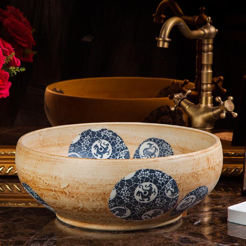 chinese Jingdezhen Art Counter Top ceramic traditional basin bowls (6)