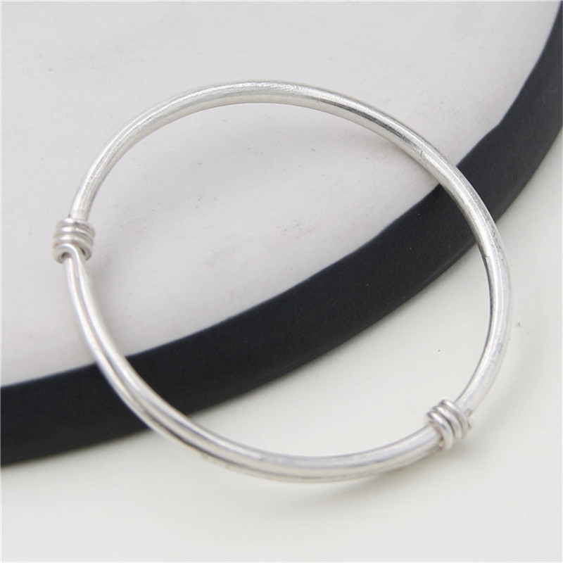 JINSE Chinese Style 100% 999 Sterling Silver Bangle Bracelet Jewelry For Women And Wen Wedding Adjustble Bangle Jewelry WT027