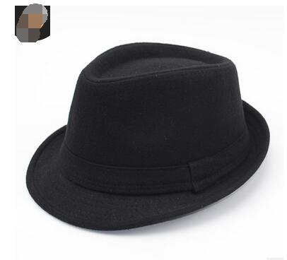 94756074cda Detail Feedback Questions about 50pcs lot fedex fast european style Wide  Brim men Fedora Hats Jazz Caps flat top hat male winter felt jazz hat on ...