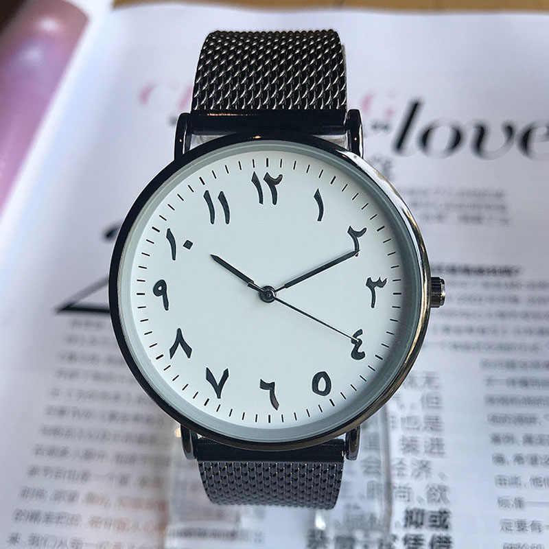 Lokior אופנה ערבית מספרי נשים שעונים Ultra דק קוורץ שעון מותג ליידי שמלת שעון Montre Femme שעון Relogio Feminino
