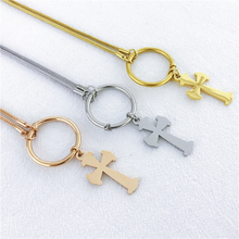 Brand Stainless Steel Necklace For Women Lovers Gold And Silver Color Chain Cross Bear Religious Jewelry