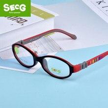 5e31843efd SECG niños marco miopía prescripción gafas marco de cristal hijos TR90 óptico  de silicona niños marco dioptría anteojos Niño