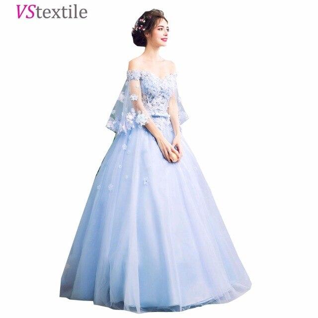 Vestidos 2019 azul cielo