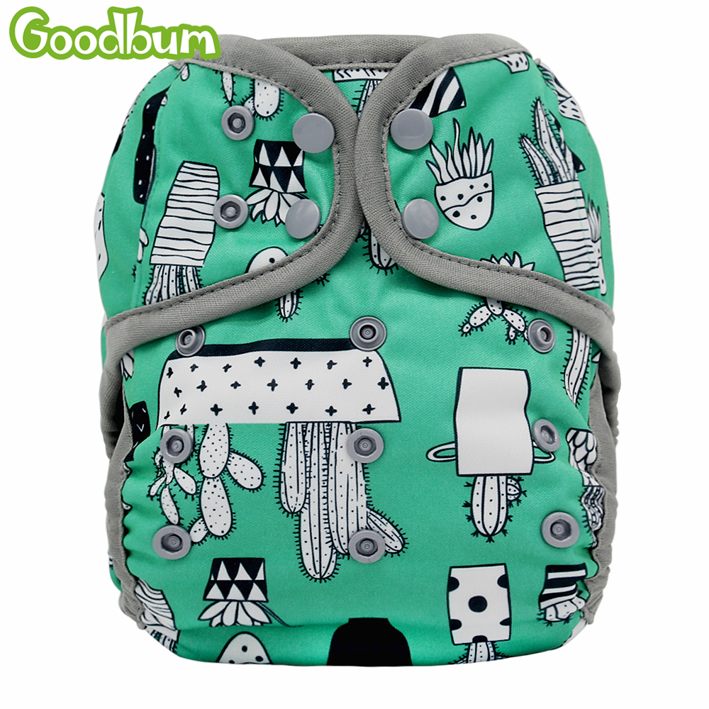 7e01a32b378b Goodbum 1 PC reutilizables PUL impermeable de tela pañales pañal de tela  para bebé pañal cubre un tamaño bebé lavable