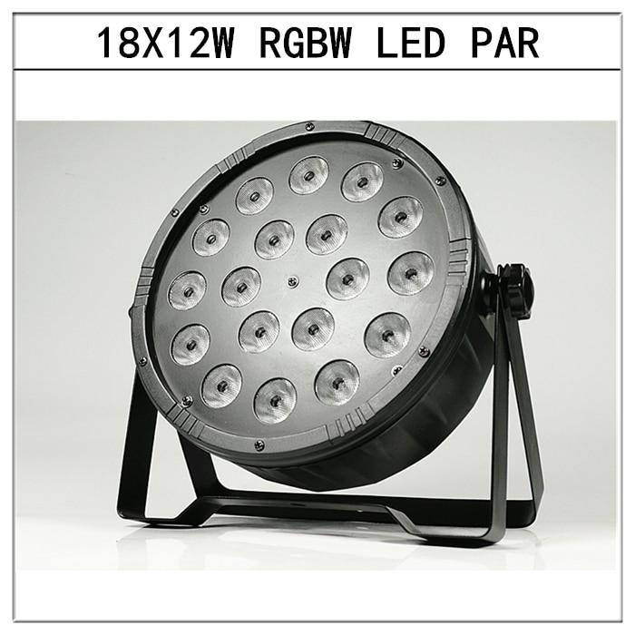 18X12W RGBW 4in1 led par lights dmx512 flat par led dj lights equipment disco lights 2pcs lot best price 18x12w led par lights dmx512 disco lights rgbw 4in1 par led professional dj equipm with power in power out