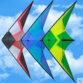 O envio gratuito de new design 2.45 m Céu rugido 3 linha dupla de dublês kites parafoil pipa com linha punho para venda tecido de nylon ripstop