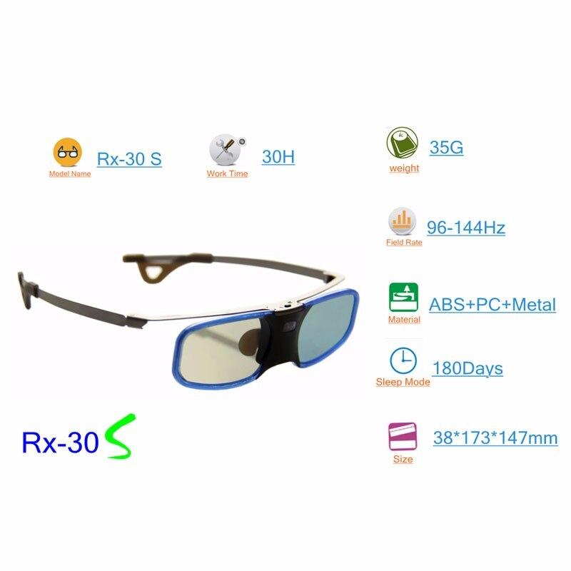 2ピースx 3d dlpプロジェクターテレビアルミアクティブシャッターメガネoptoma lg benq acer (RX 30)送料無料!  グループ上の 家電製品 からの 3D眼鏡/3Dバーチャルリアリティ眼鏡 の中 2