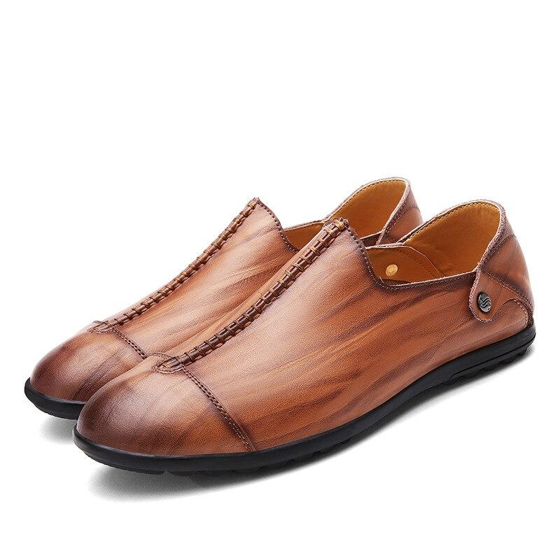 Fashion Men Genuine Leather Casual Shoes Low Top Business Dress Shoes Male Flats Men's Wedding Shoes Oxfords Zapatillas XK050409 the factory direct large painting signature series of neutral pen 1mm 12pcs set