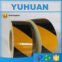 Free Shipping 5CM x 45.7M Good Quality Safety Warning Reflective Tape Marking Film Sticker for Road Construction Caution