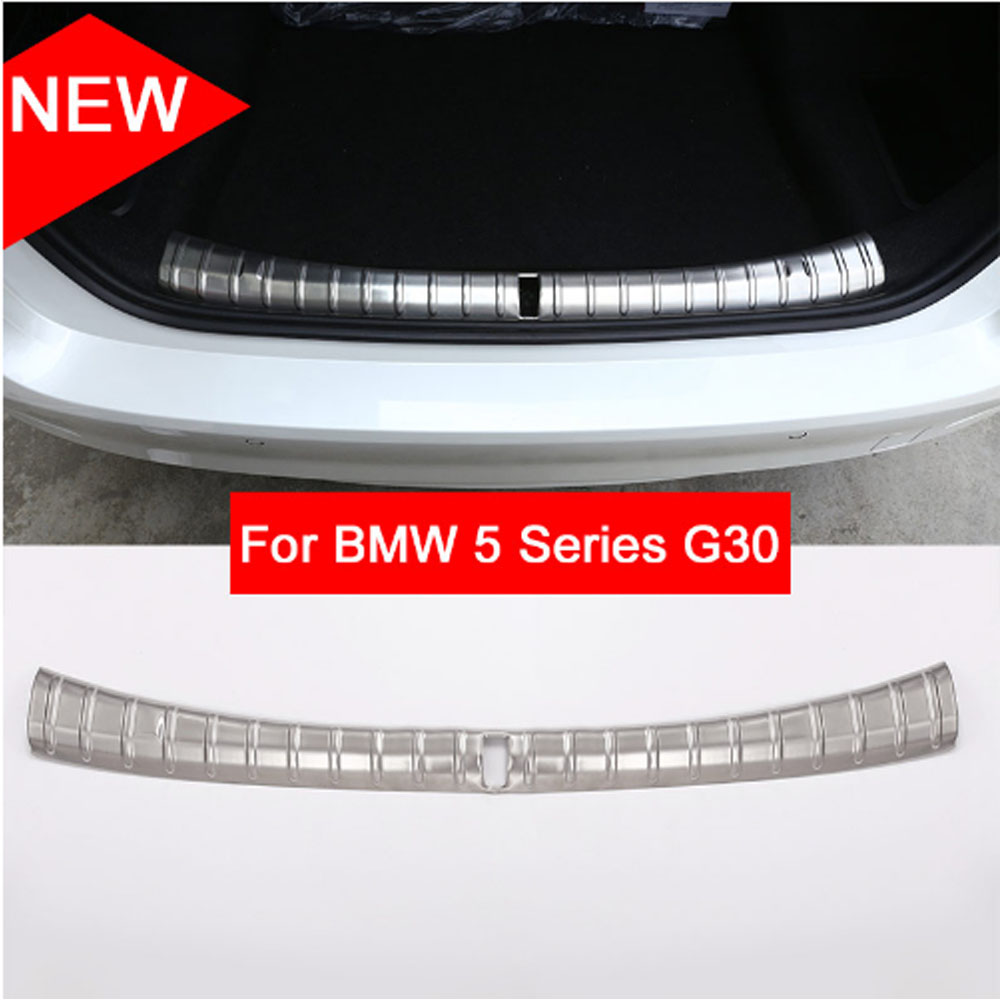 Stainless Steel Car Interior and outside Bumper Protector Plate For BMW 5 Series G30 2017 2018
