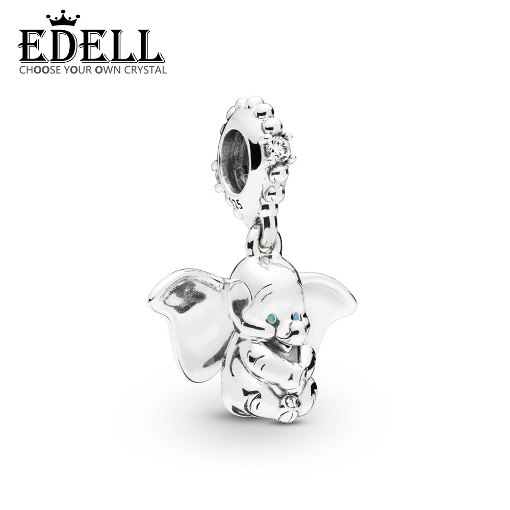 EDELL 100% 925 Sterling Silver New 2019 Spring 797849CZ DUMBO DANGLE CHARM Fit DIY Bracelet Necklace Fashion Jewelry GiftEDELL 100% 925 Sterling Silver New 2019 Spring 797849CZ DUMBO DANGLE CHARM Fit DIY Bracelet Necklace Fashion Jewelry Gift