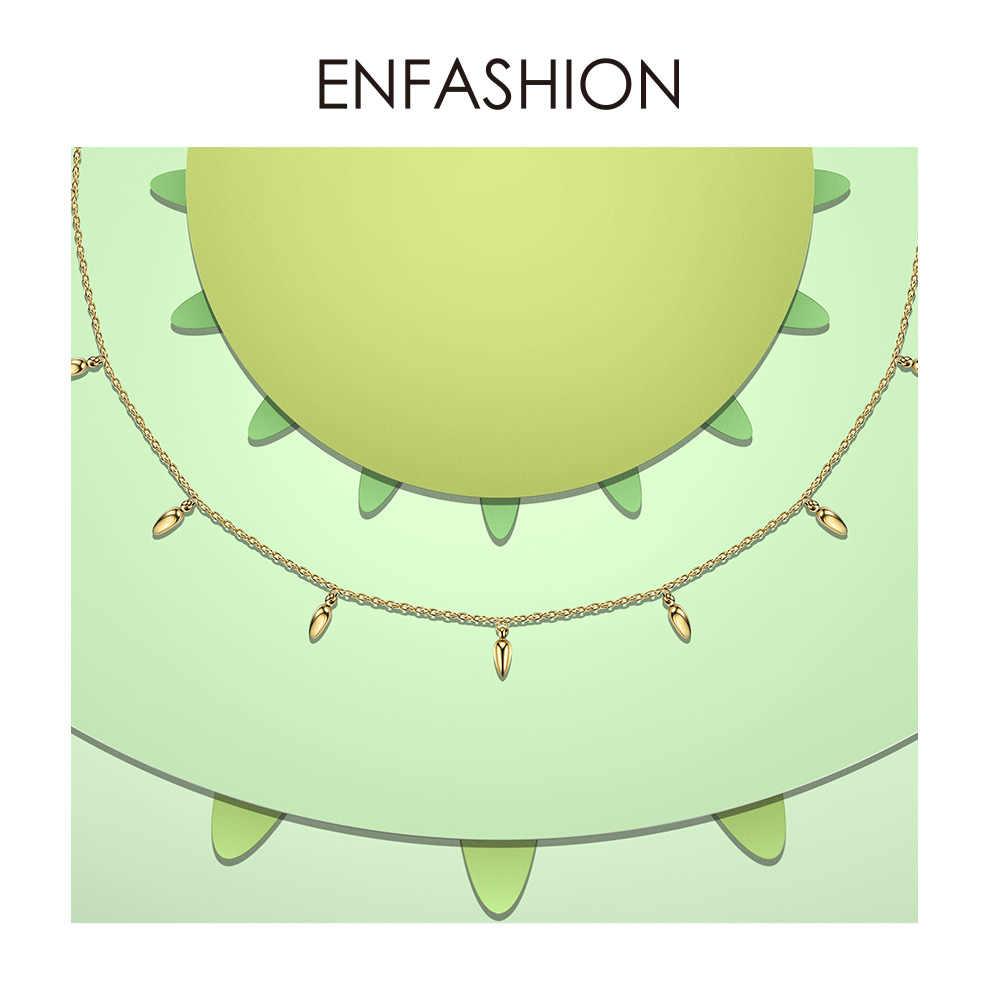 Enfashion чокер пшеницы яркое женское ожерелье сосновый орех цепи ожерелья золотистого цвета Boho праздничные ювелирные изделия колье Femme PM193002