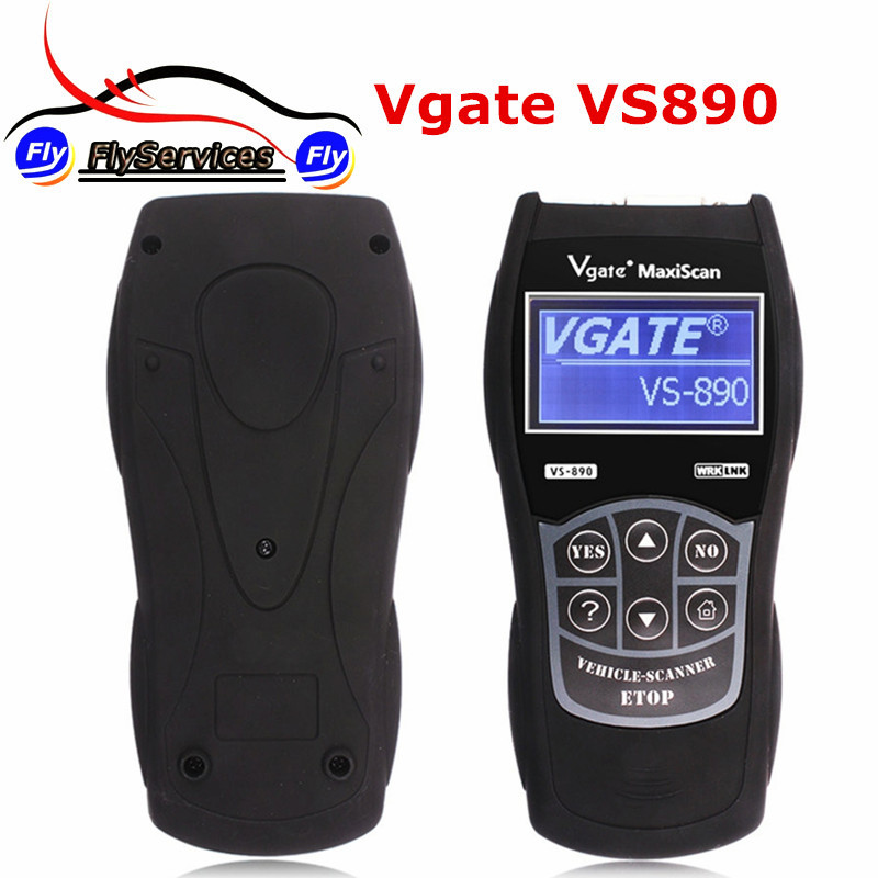 Prix pour Outil de diagnostic Vgate Maxiscan VS890 OBD2 Voiture Lecteur de Code Vgate VS-890 Lire Tous Les Codes D'anomalie VS 890 Reset MIL LCD Multi-Langues