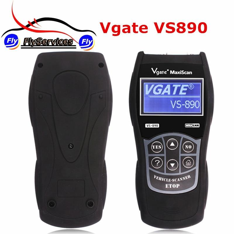 Цена за Диагностический Инструмент Vgate Maxiscan VS890 Vgate OBD2 Автомобиля Code Reader Читать Все Коды Неисправностей VS-890 VS 890 Сброс Двигателя MIL LCD На Нескольких Языках