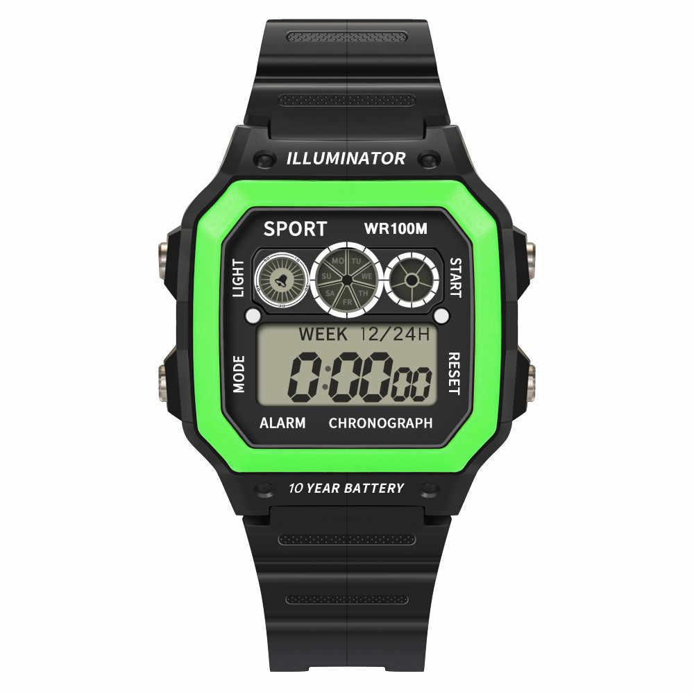 الفاخرة الرجال التناظرية الرقمية العسكرية الرياضة LED للماء ساعة معصم الأزياء عارضة الفاخرة الأسود الإناث الساعات A30