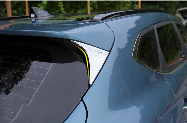 Chromed Rear Spoiler Trim Cover For Hyundai Tucson Accessories 2015 2016  2017