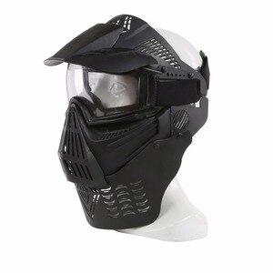 Image 5 - WoSporT צבאי מלא פנים טקטי פיינטבול מסכת Airsoft מסכת עדשה עם משקפי & צוואר להגן עבור חיצוני CS אבזר