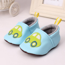 2017 Blue pink Car Rabbit Lovely Warm Baby Shoes Soft Bottom Non-slip Bow Toddler shoes First walkers Newborn Baby girl Footwear