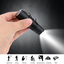 Mini Flashlight 2000 Lumens Q5 LED Torch Adjustable Zoom Focus Torch Lamp 4 Modes Penlight Waterproof For Outdoor with Magnet(China)