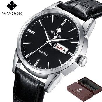 WWOOR Unisex Luxury Hour Date Montre Homme Quartz Watches 2