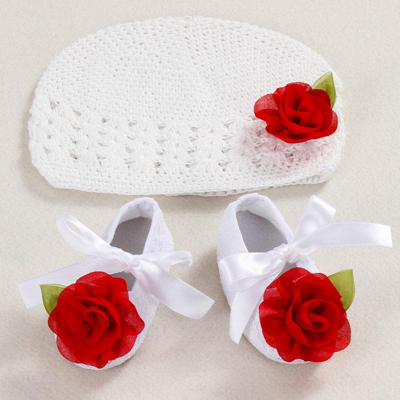 new Flower Girls Baby hat crochet handmade photography props 8fc41ff525c3