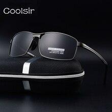 New 2017 coolsir plaza de marco de metal gafas de sol polarizadas de los hombres gafas de moda diseñador de la marca de conducción de viaje gafas de sol hombre