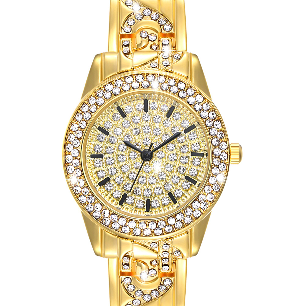 Full Crystals Elegant Ladies Watch Luxury Wrist Bracelet Watches for Women Stones Dial Roman Index Christmas Gift free shipping 1