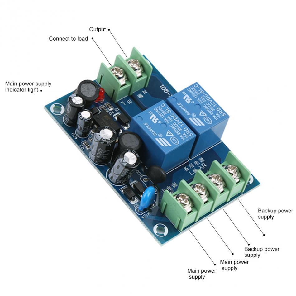 AC 85 240V 110V 220V 230V 10A Dual Power Supply Automatic Switching ...
