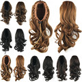 Hot Sell Women Wavy Ponytails with Drawstring Lady Natural Hair Extension 14inch 75 Grams Kinky Pony Tails for Lady