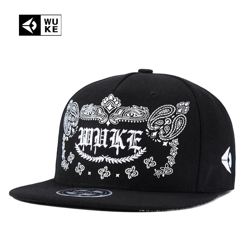 [WUKE] 2017 Brand Baseball Cap For Men And Women Brim Straight Strapback Gorras Hat Hip hop 5 Panel Snapback Cap Casquette Gorro 10pcs free shipping0177 yipan c14 lace brim ear cat straw leisure cap men women baseball hat wholesale