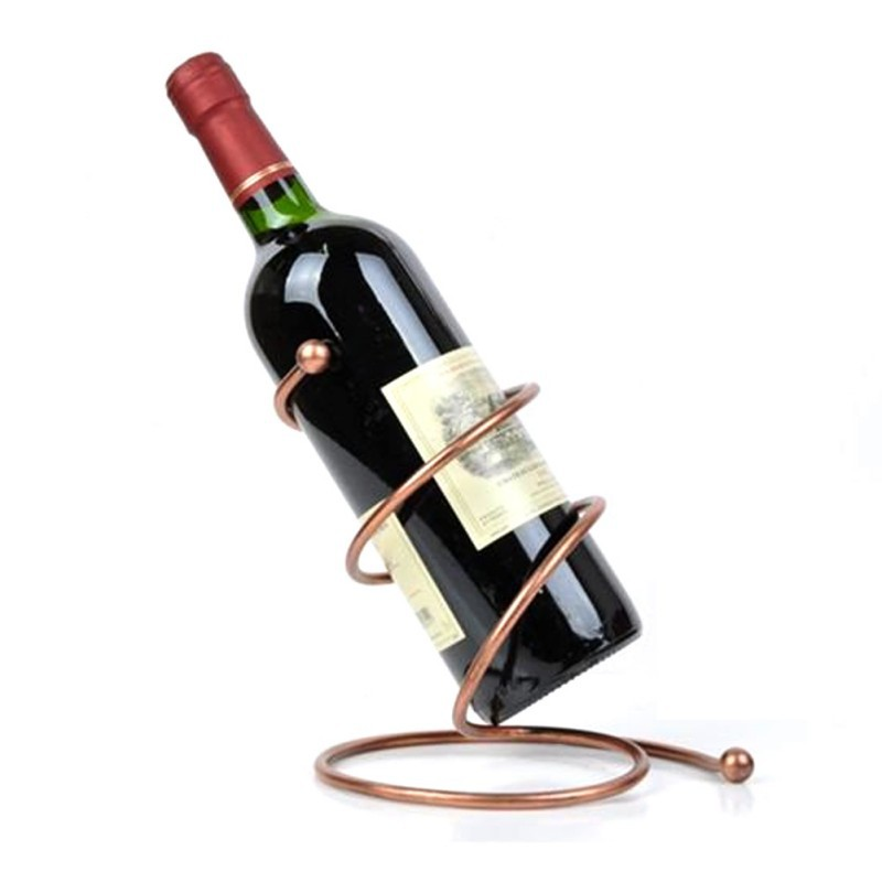 Aliexpress New Arrival Wire Metal Red Wine Bottle Rack Holder Wall Shelf Table Stand Home Decor Bar Gl For Wijnflessenhouder From