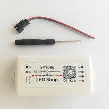 SP108E светодио дный Wi-Fi Магия Управление Лер SK6812 WS2811 WS2812B WS2813 и т. д. Светодиодные ленты модуль свет Smart APP Беспроводной Управление DC5-24V