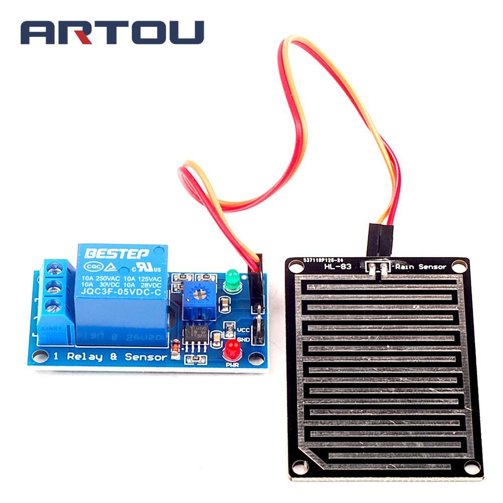 Buy 1pcs 5v Raindrops Controller Module Humidity Rain Sensor Circuit Foliar Mois Ture Monitor Weather Relay