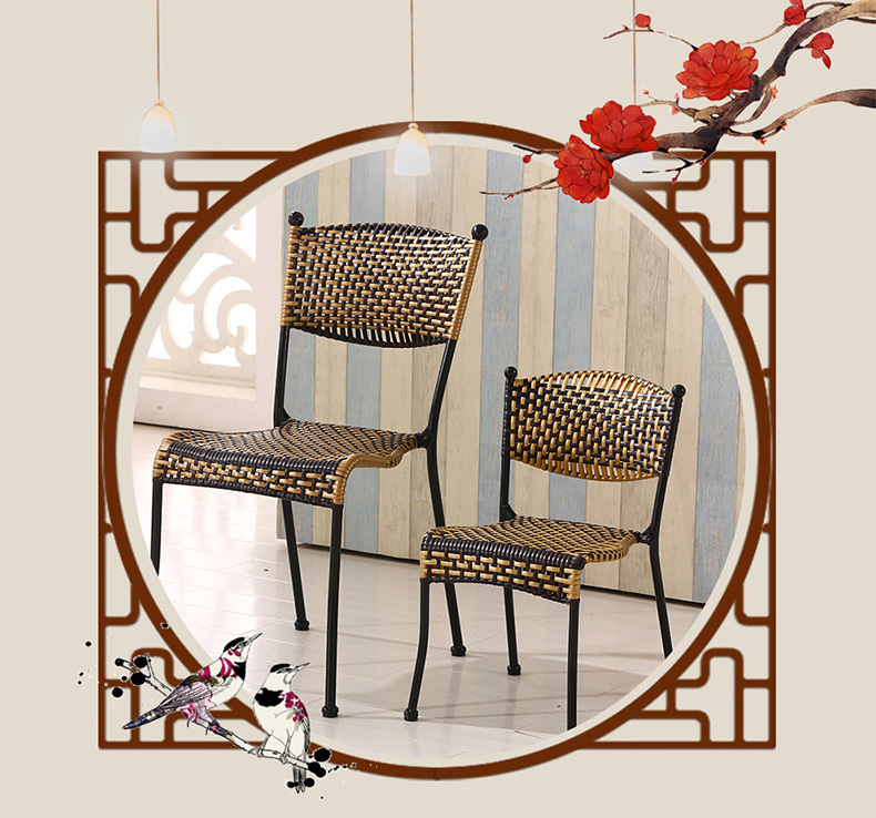 cafe chair  Rattan seat living room tea milk coffee stool living room chair pu seat black red