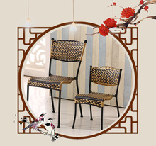 cafe chair  Rattan seat living room tea milk coffee stool