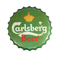 Carlsberg Beer Bottle Cap Vintage metal Tin signs Art Poster Bar Pub Tavern Cafe Wall Stickers Decor