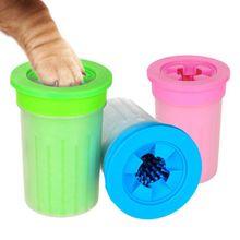 Pet кошачья и собачья лапка очистки Чашка мягкая пластиковая щетка для стоп коготь очистки обезвоживания Удобная кошка аксессуаров для домашних питомцев собак