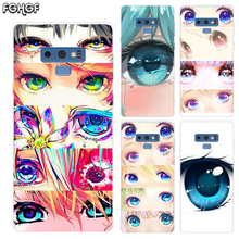 Charming Beautiful Eyes Transparent Soft Print Hull Shell Case For Samsung Galaxy Note 8 9 5 4 3 C5 C7 C8 C9 Cover