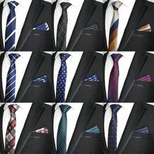 27 Color 6CM Men Tie Set Skinny Polyester Silk Dots Stripe P