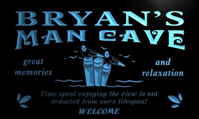 x0101-tm Bryans Man Cave House Custom Personalized Name Neon Sign Wholesale Dropshipping On/Off Switch 7 Colors DHL