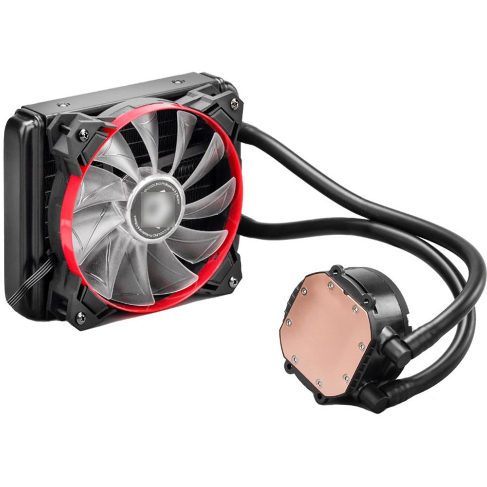 Red Light 120mm Fan CPU Water Cooling Kit Liquid CPU Cooler Desktop PC Radiator for Intel LGA / AMD / AM4