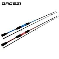 DAGEZI 1.8 M Castingi Fishing Rod lure fishing rod M Mocy Szybka Akcja Węgla koła Pręt Tyczki niebieski/czerwony Lure Rod pesca