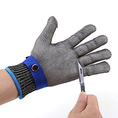 Chain mail butcher stainless steel glove cut resistant gloves level 5 top quality 304l stainless steel mesh knife cut resistant chain mail protective glove for kitchen butcher working safety
