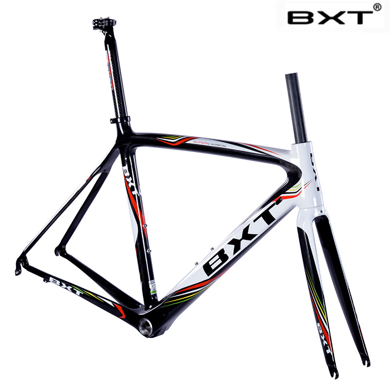 BXT T800 Super light Cheap 2017 Di2&mechanical 2017 carbon fiber bike frame bicycle frameset 50 53 55cm aero carbon road frame 2018 t800 full carbon road frame ud bb86 road frameset glossy di2 mechanical carbon frame fork seatpost xs s m l og evkin