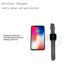 zaiyou Qi Wireless Fast Charger for Apple Watch and iPhone X 8 8 PlusSamsung S9 S8 note 7 8 FastWireless usb Pad Phone Adapter