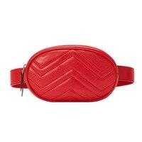 Bolso de la cintura de Las Mujeres Cintura Empaqueta Bolso de La Correa de la Marca de Lujo de Cuero Pecho Crossbody Bolso Rojo Negro 2018 Nueva Moda Hight Quality 408