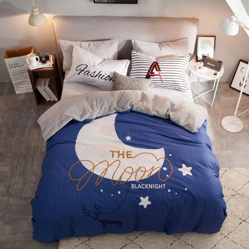 Moon Bedding Kids Bedding Set Single Velvet Bed Set Luxury ...